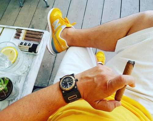 Cigar Smoke Cohiba Cuba Havana Yellow Watch