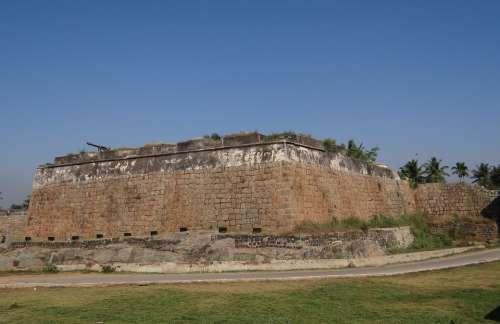 Citadel Canon Fort Ancient Ruins Srirangapatanam