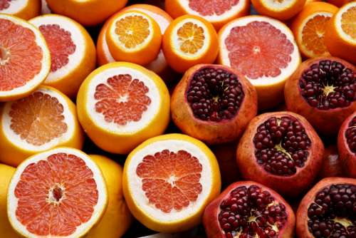 Citrus Oranges Pomegranates Grapefruit Seeds Fruit