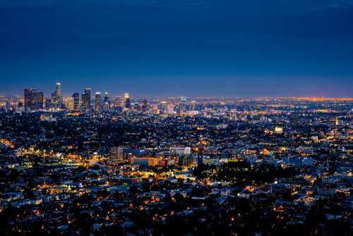 City Los Angeles Cityscape Skyline Downtown