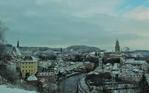 City Winter History River Historical Europe