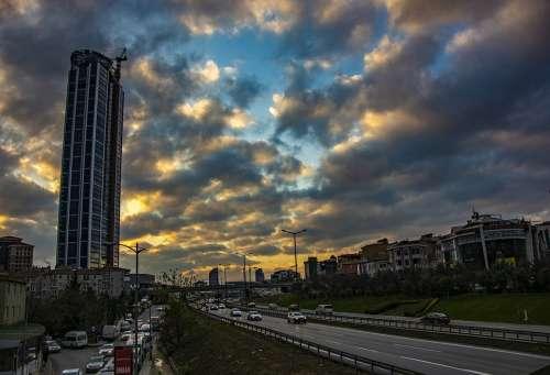 City Cloud Sky Architecture Urban Buildings