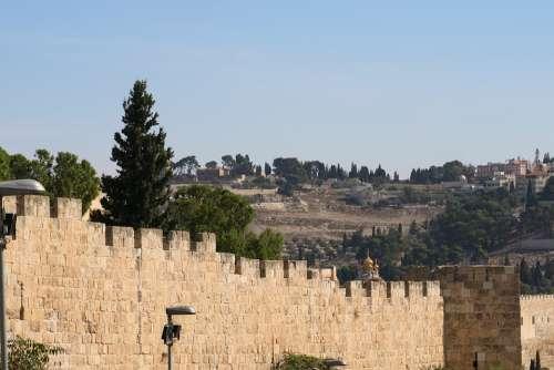 City Wall Jerusalem Israel History Defensive Wall