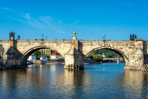 Cityscape Prague City Architecture Charles Bridge