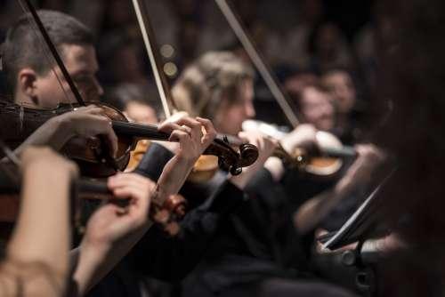 Classical Music Concert Macro Music