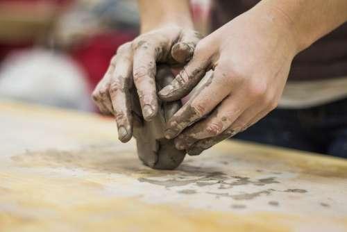 Clay Hands Sculpting Art Forming Artist Artistic