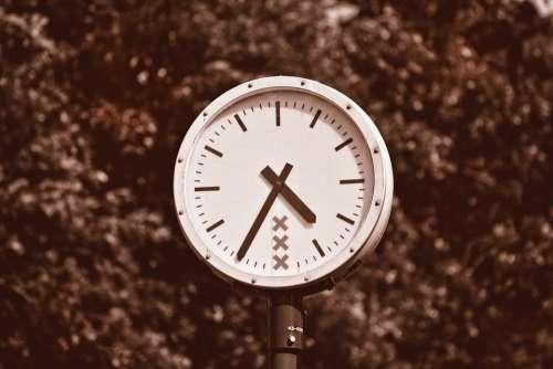 Clock Time Hour Round Clock Public Clock