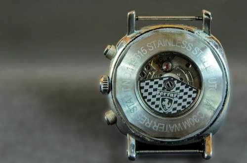 Clock Time Mechanism Dial Retro