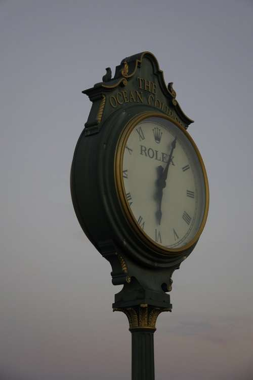 Clock Twilight Time Rolex Ocean Golf Course