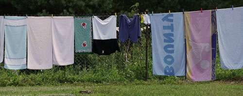 Clothes Line Laundry Dry Out Clean Laundry Day