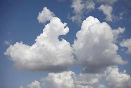 Cloud Sky Clouds Blue White