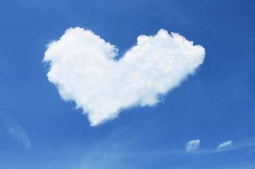 Cloud Heart Sky Blue White Love Luck Loyalty