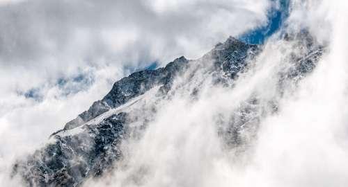 Clouds Mountain Mountain Peak Cold Landscape