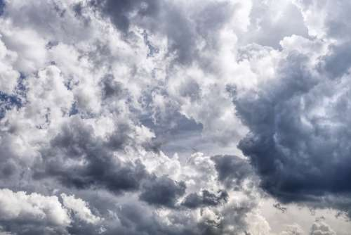 Clouds Sky Weather Blue Clouds Form Covered Sky