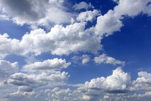 Clouds Sky Weather Cumulus Clouds Atmosphere Blue