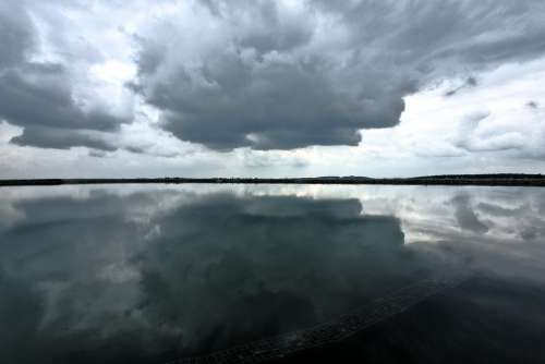Clouds Water Sky Drama Reflection