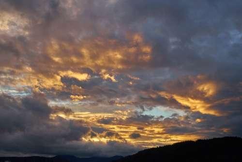 Clouds Evening Sunset
