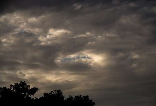Clouds Dark Grey White Cloudscape Weather Sky