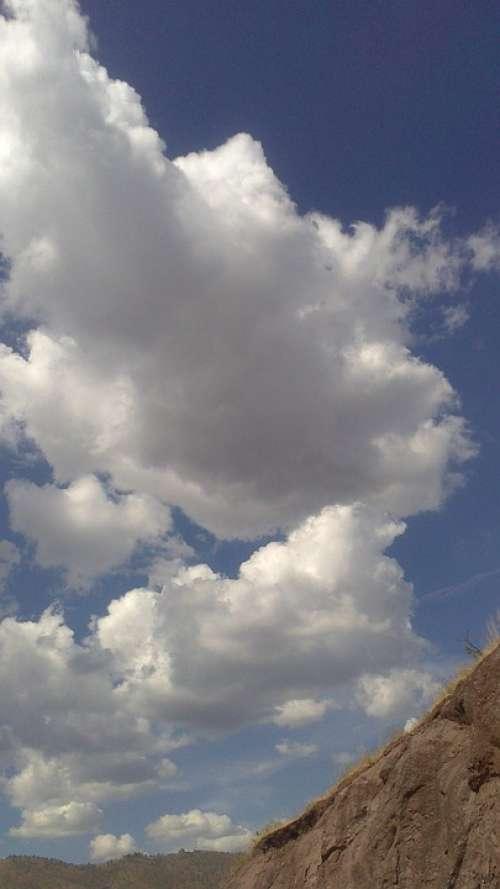 Clouds Sky Blue Landscape Nature Heaven Mountain
