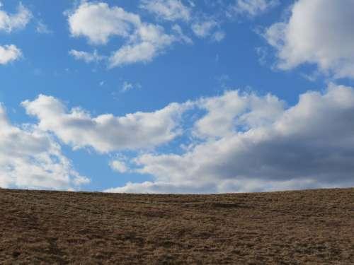 Clouds Landscape Field