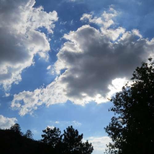 Clouds Dark Rain Storm Sky Nature Weather