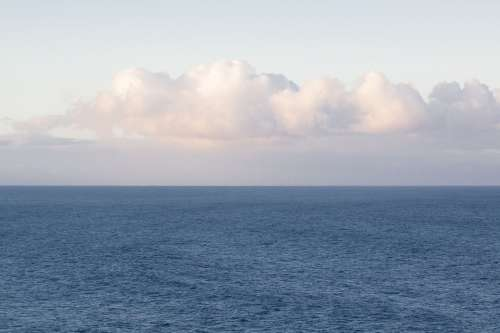 Clouds Horizon Sea Ocean Mood Blue Fund