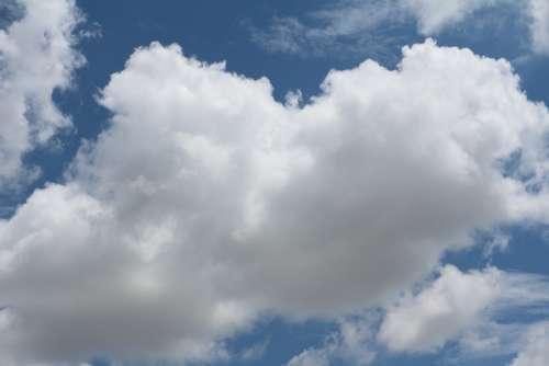 Clouds Sky White Blue Fluffy Cloudscape