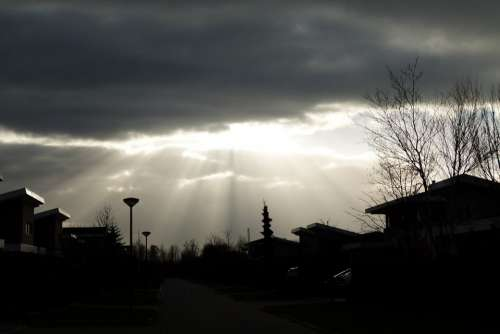 Clouds Air Nature Sun Rays Imminent