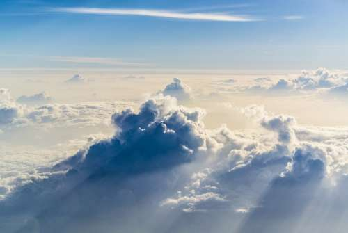Clouds Sky Altitude Weather Blue Air Environment