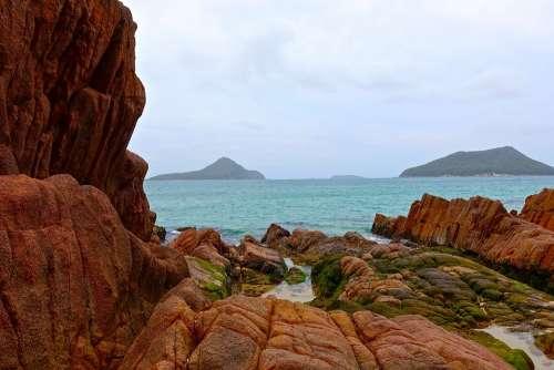 Coastal Rocky Islands Vista Seascape Nelson Bay