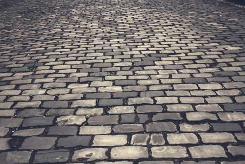 Cobblestones Away Paving Stones Pattern Patch