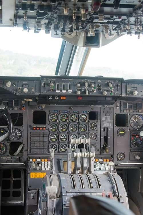 Cockpit Aircraft Instruments Flying Aviation