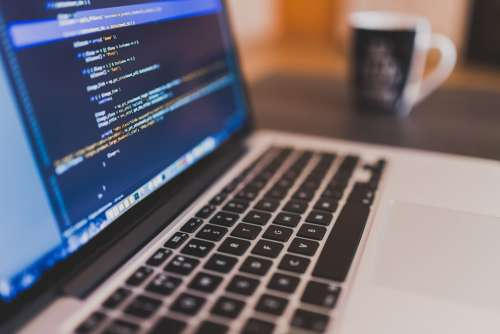 Coding Programming Working Macbook Laptop