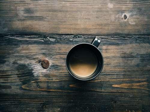 Coffee Wood Table Wooden Espresso Breakfast