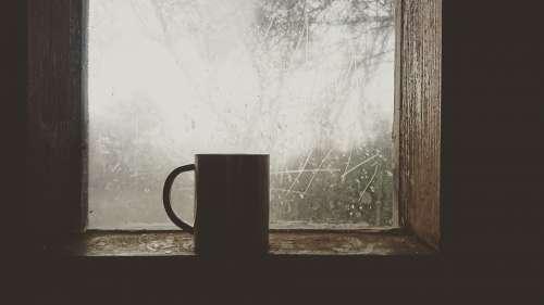 Coffee Cold Mug Warm Morning Drink Cup Window