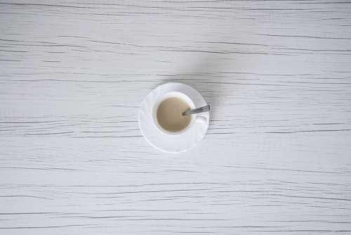 Coffee Table Minimum White Wallpaper Morning