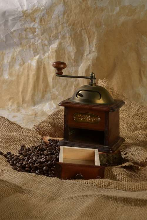 Coffee Retro Grain Coffee Coffee Grinder Brown