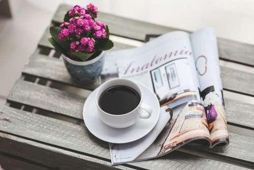 Coffee Magazine Newspaper Read Reading Free Time