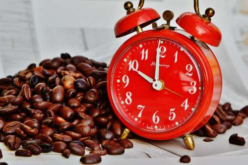Coffee Break Break Alarm Clock Time Drink Enjoy