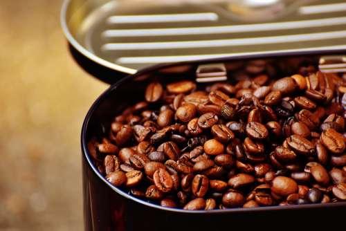 Coffee Tin Coffee Coffee Beans Cafe Roasted