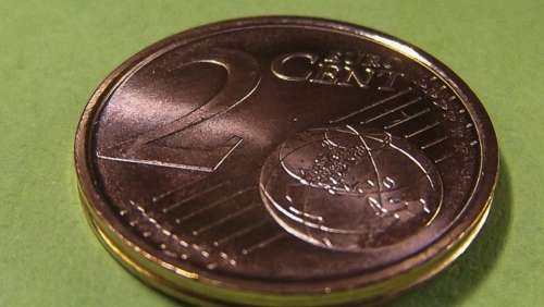 Coin Cent Euro Currency Money Metal Loose Change