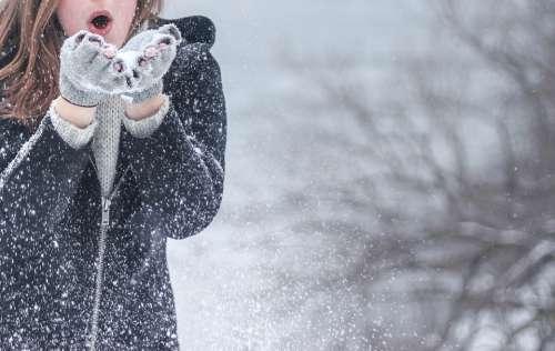 Cold Snow Fashion Woman Girl Winter Model