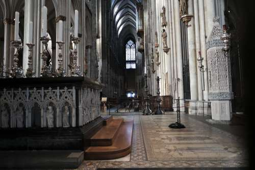 Cologne Cathedral Church Gothic Landmark Building