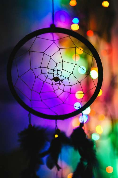 Colorful Dreamcatcher Culture Dream Catcher Lights