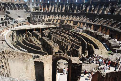 Colosseum Rome Travel Italy Roma Stadium