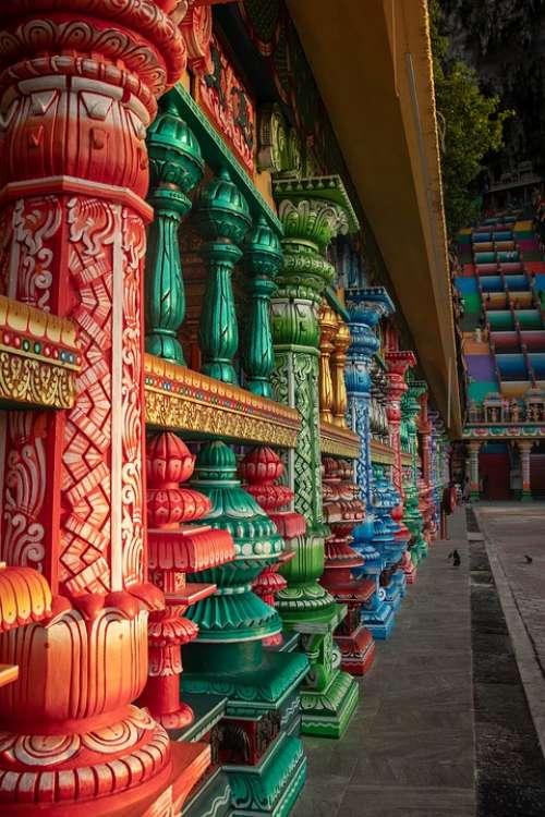 Columns Colourful Colour Color Colorful