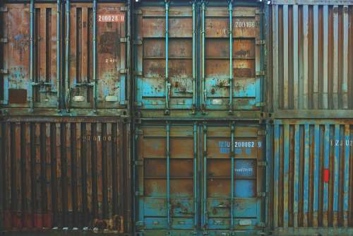 Containers Storage Rusted Rusty Old Forgotten