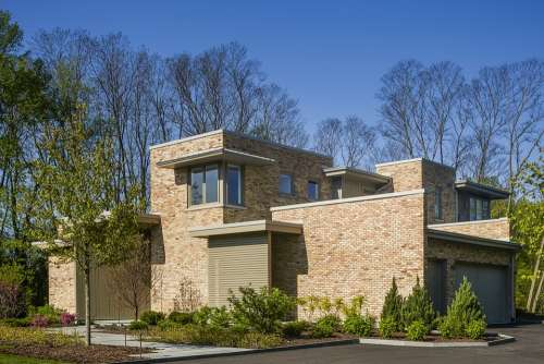 Contemporary Residence Brick Architecture