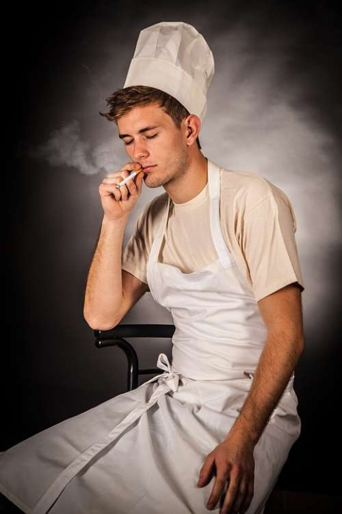 Cooking Smoking Cigarette Kitchen Steam Eat Cook