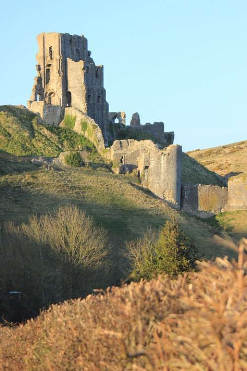 Corfe Castle Dorset Medieval English Purbeck